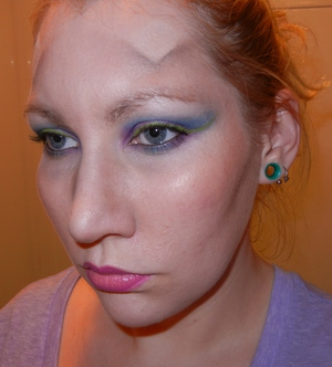 Really played with my makeup, and apparently got in touch with my inner GaGa