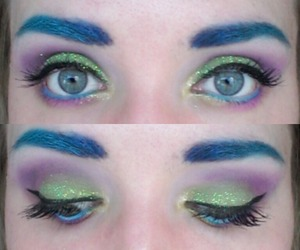 "The glitter that was used is called ""Fresh Lime"" by TND cosmetics."