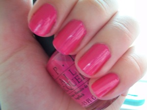 OPI La Paz-itively Hot  To read my review of the polish please visit my blog:  www.mazmakeup.blogspot.com