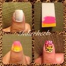 ombre leopard nails