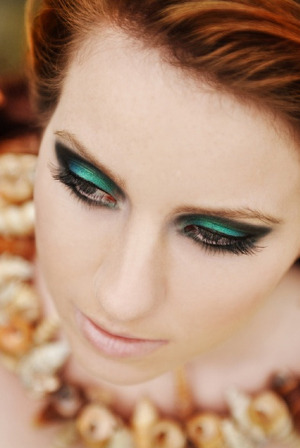 Mermaid. Makeup by me  http://www.beautylish.com/v/jcguj/mermaid-teal-dramatic-eye-shadow-tutorial-makeupdollbaby  Here is the tutorial for this look :) xx enjoy