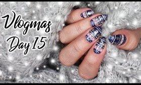 Christmas Sweater Nail Art   Vlogmas Day 15 ♡