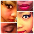 Red Lips and smokey eyes