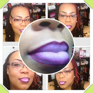 practicing the ombre lip thing