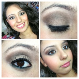Used club eyeshadow from Mac on the crease and bottom lash line