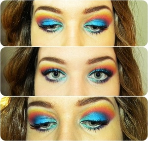 Ocean sunset/sunrise - Inspired by http://www.beautylish.com/f/iwjcjw#c-imavju