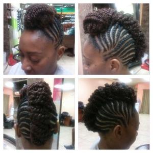 Natural upd using Janet kinky bulk hair www.styleseat.com/tatianawilson