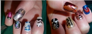 Hand-painted Starwars nails!