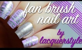 Fan Brush Nail Art Tutorial | lacquerstyle