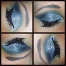 Glitter smokey eyes!
