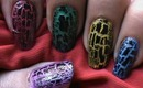 How to use crackle nail polish at home ideas easy how to tutorial short/long nails art designs