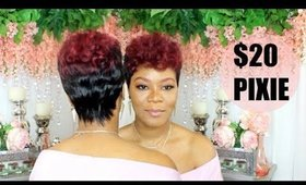 Short Human Hair Pixie Wig | $20 Ombre