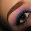 Pink and Blue Gradient Eye