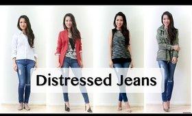 Distressed Jeans Pairings