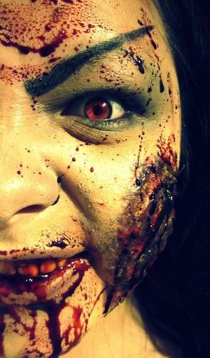 Raise of the dead. Zombie make-up