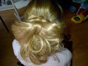 Hair weft bow updo