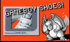 | DIY GAMEBOY SHOES | - Sarahsgamecollection