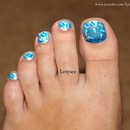 Metallic Leopard Toe Nails