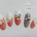 Korean stone nail art