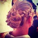 Braided bridal bun