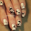 Black Birds Nail Art