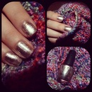 Designer De Better! by OPI. Love the metallic nail trend.