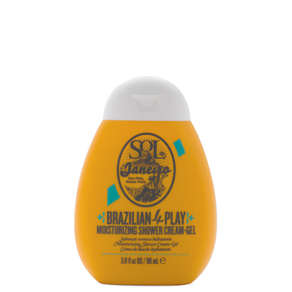 Sol de Janeiro Brazilian 4 Play Moisturizing Shower Cream-Gel 3.04 fl oz product smear.