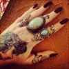 Vintage Rings And Hand Tattoos