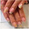 Rainbow glitter diagonal nails