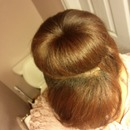 Sock Bun W/ Bangs.