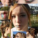 Rainbow makeup and fun braids
