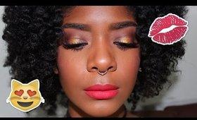 Summer Makeup: Bronze Spotlight Eyes + Bright Coral Lips
