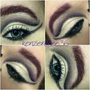 black and purple cut crease