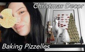 Christmas Decorations & Baking Pizzelles! Baking Vlogmas | Olivia Frescura