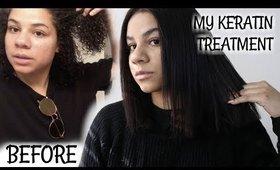 KERATIN HAIR TREATMENT EXPERIENCE (natural hair)   Adozie