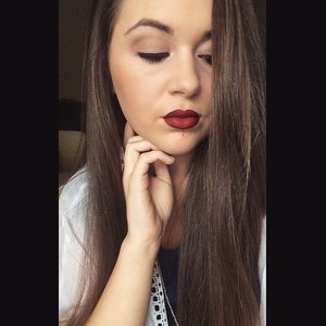 Jordana Lipliner {Cabernet} w/ Stila Liquid Lipstick {Fiery}