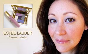 Wearing the Estee Lauder Fall 2010 Surreal Violet palette