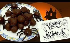 Halloween treats - Spider oreo balls!