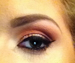 Using some mattes from the Kat Von D Ladybird palette and Lit Cosmetics Glitter in Hello Sunshine