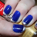 Pair royal blue nails with silver tips like Beauty Maggie W. does :)