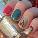 Christmas nail art: Mistletoe