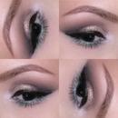 Gold and Blue Smokey Eye