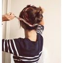 sock bun with scarf