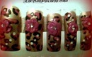 ~ Nail Art ~ Leopard Rose ~ Inspired by douga2007 ~