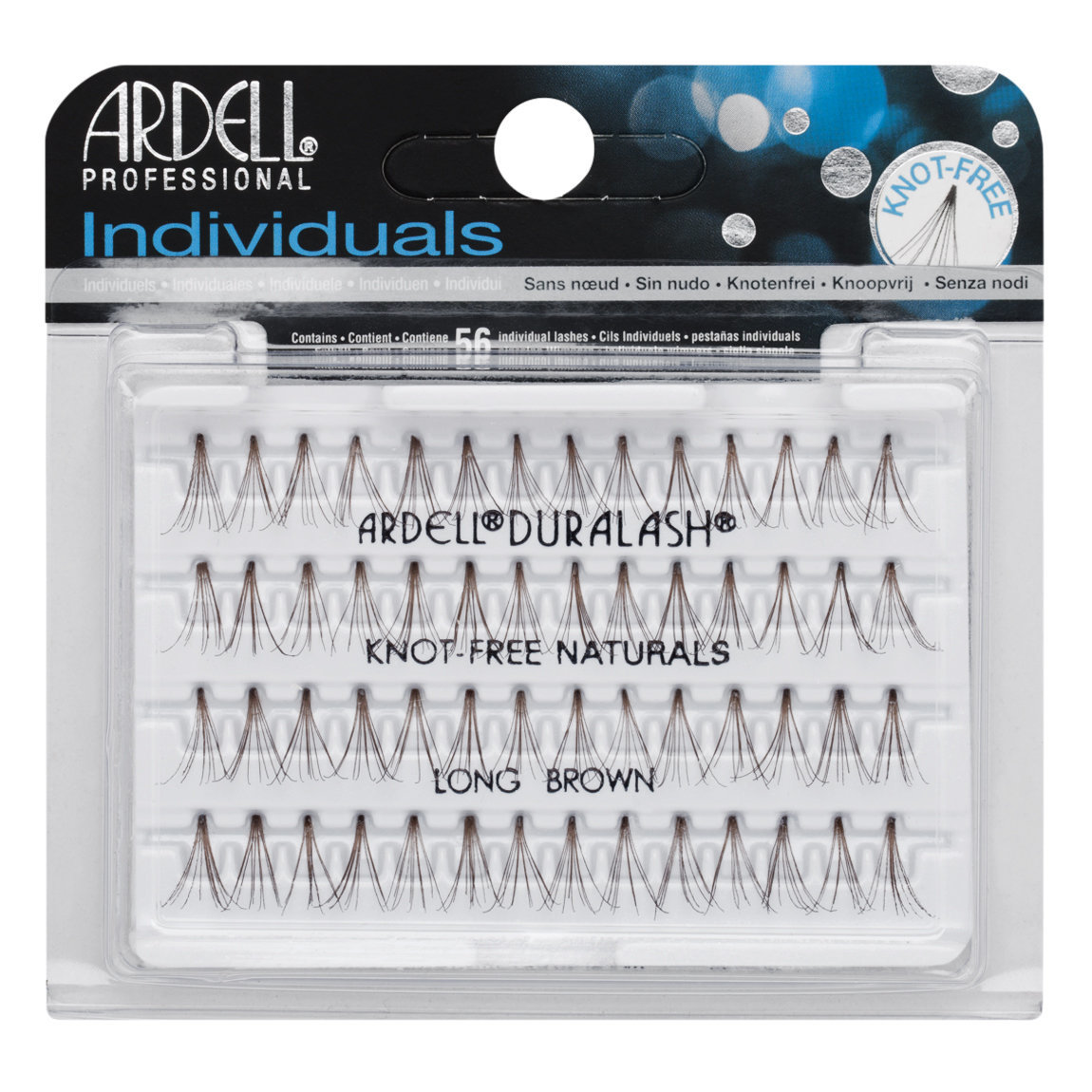 Ardell Individuals Knot-Free Natural Lashes Long Brown alternative view 1.