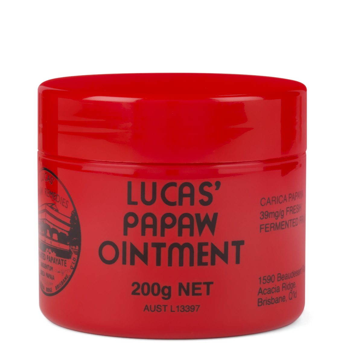 Lucas' Papaw Remedies Lucas' Papaw Ointment 200g Jar product smear.