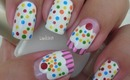 Nail Art - Cupcake Nails - Decoracion de Uñas - Pastelitos