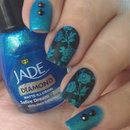 Blue rose nails