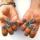Emerald Aloha Nails