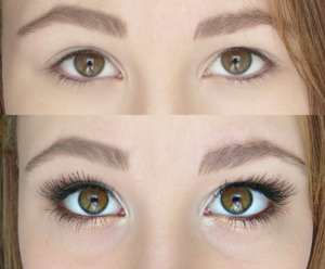white-gold-brown look & false lashes